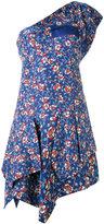 Isabel Marant floral one shoulder dress - women - Cotton/Silk - 36
