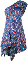 Isabel Marant floral one shoulder dress - women - Silk/Cotton - 36