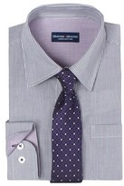Graham & Graham Boys' Striped Button Down Shirt - Purple