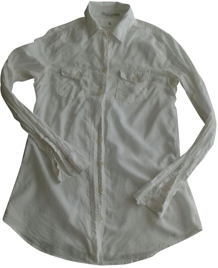 Maison Scotch White Cotton Top for Women