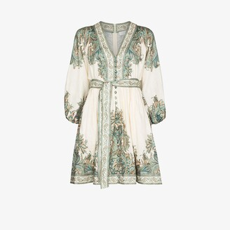 Zimmermann Brighton Paisley Print Mini Dress