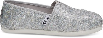 Toms Silver Iridescent Glimmer Youth Classics