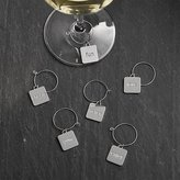 Crate & Barrel Set of 6 Everyday Word Wine Charms