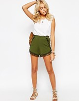 Asos Jersey Shorts with Tassels