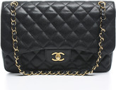 Chanel Black Caviar Jumbo Double Flap Bag GHW