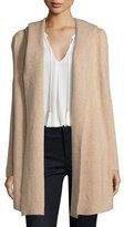 Joie Gredan Long Hooded Sweater, Coffee/Cream