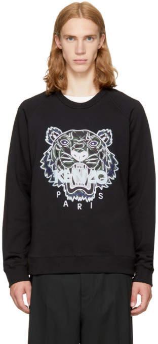 Kenzo Black Relaxed Tiger Sweatshirt