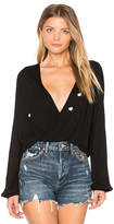 Wildfox Couture Scattered Heart Embroidery Blouse
