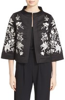 Ted Baker Women's 'Abhy' Embroidered Stand Collar Jacket