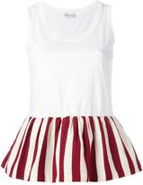 RED Valentino pleated trim top