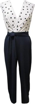 Sandra Darren Polka Dot Cap Sleeved Jumpsuit