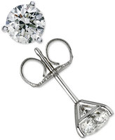 Macy's Certified Diamond Stud Earrings (1 ct. t.w.) in 18k White Gold