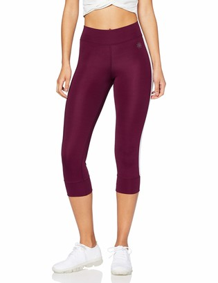 Aurique Amazon Brand Women's Side Stripe Cropped Sports Tights