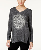 Style&Co. Style & Co. V-Neck Graphic-Print Top, Only at Macy's