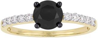 Affinity Diamond Jewelry Affinity 1.20 cttw Black & White Diamond Ring, 14K Gold