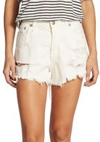 R 13 Shredded Slouch Shorts