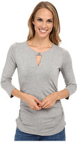Vince Camuto 3/4 Sleeve Keyhole Top w/ Hardware