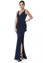 Terani Couture Sleeveless V Neck Long Dress 1613E0374B