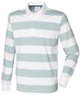 Front Row Mens Striped Sports Rugby Polo Shirt (L)