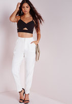 Missguided Cigarette Pants White