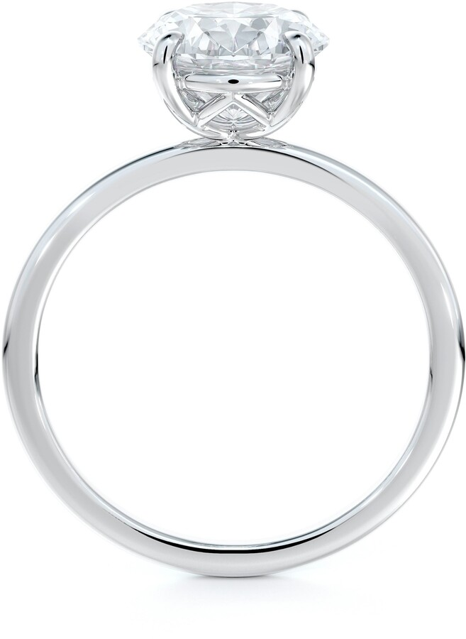 Thumbnail for your product : Forevermark Delicate Icon(TM) Setting Oval Diamond Engagement Ring
