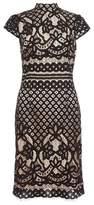Dorothy Perkins Womens *Quiz Black High Neck Midi Dress, Black