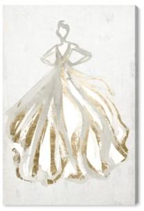 "Oliver Gal Elegant Dress Flow Iii Canvas Art - 24"" x 16"" x 1.5"""