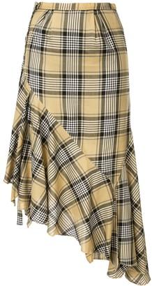 Maison Mihara Yasuhiro Plaid Wrap Skirt