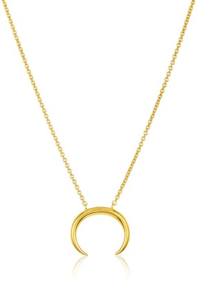Sterling Forever 14K Yellow Gold Vermeil Horn Pendant Necklace