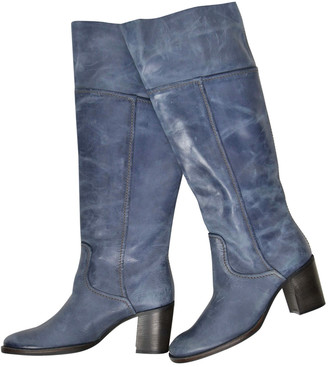 Maliparmi Blue Leather Boots