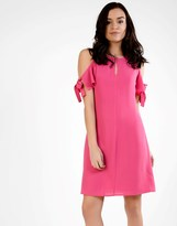 Glamorous Bow Sleeve Cold Shoulder Dress
