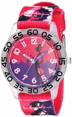 EWatchFactory Girls' Red Balloon Stainless Steel Analog-Quartz Watch with Nylon Strap