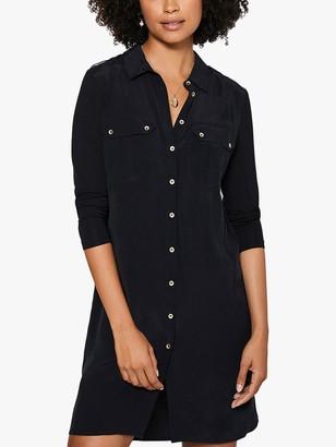 Mint Velvet Mini Shirt Dress, Black