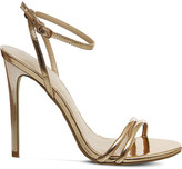 Office Hibiscus metallic sandals