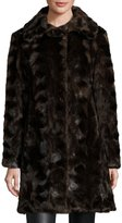 Gorski Reversible Mink Fur Down Feather Coat, Brown