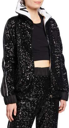 NO KA 'OI No Ka Oi Midnight Side Striped Embellished Jacket