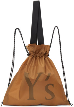 Y's Ys Yellow Nylon Logo Backpack