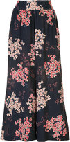 Rebecca Taylor floral print cropped trousers - women - Silk - XS