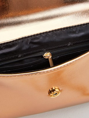 Very Clutch Bag with Chain Strap - Rose Gold