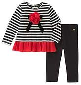 Kate Spade Girls' Bow Applique Top & Leggings Set - Baby