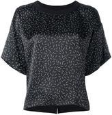 Diesel match print T-shirt - women - Silk/Cotton - XS