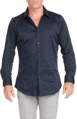 Johnny Bigg Bahamas Regular Fit Stretch Button-Up Shirt