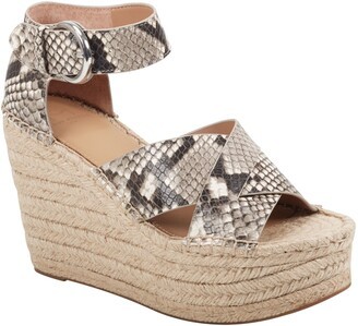 Marc Fisher Amari Ankle Strap Espadrille Wedge