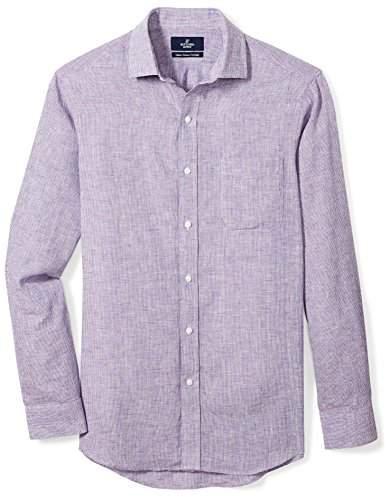 Buttoned Down Men's Classic Fit Spread-Collar Casual Linen Cotton Shirt