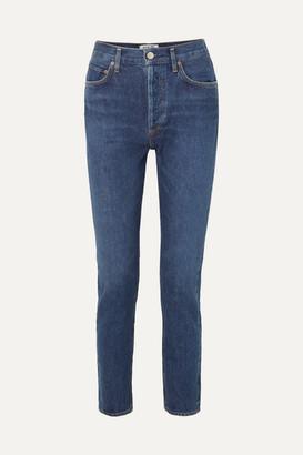 AGOLDE Remy High-rise Straight-leg Jeans - Dark denim