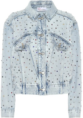 RED Valentino embellished denim jacket