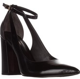 GUESS Braya Semi Slingback Ankle Strap Pointed Toe Dress Pumps, Black Multi.