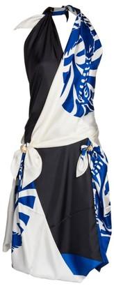 Bottega Veneta Silk Twill Scarf Halter Dress