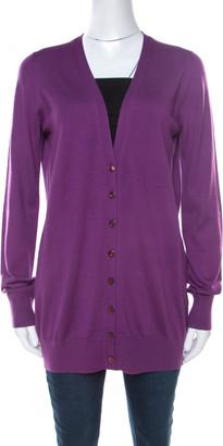 Loro Piana Purple Cashmere Long Cardigan L