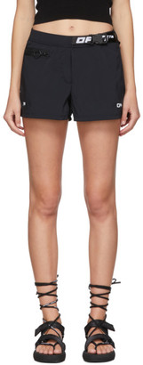 Off-White Black Active Belted Shorts